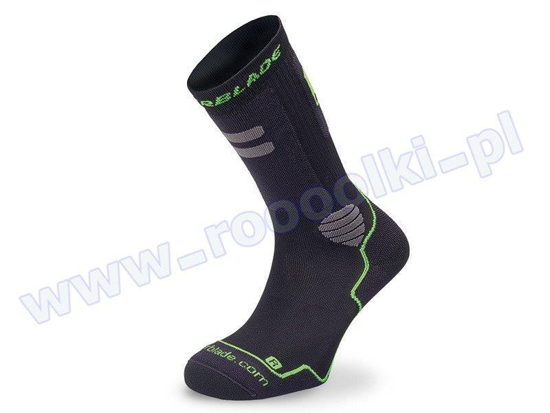 Skarpety męskie Rollerblade High Performance Socks Black / Green 2017