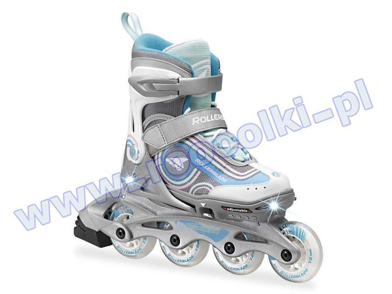 Rolki Rollerblade Spitfire Flash Girl Silver / Light Blue 2017