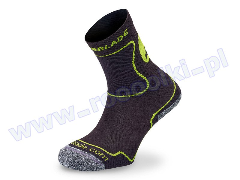 Skarpety dziecięce Rollerblade Kids Socks Black / Green 2017