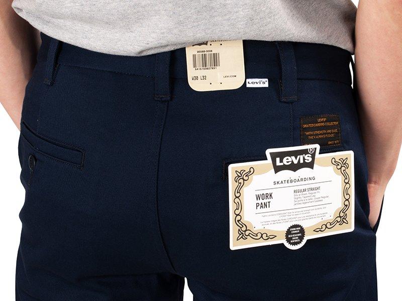 Spodnie Levis Skateboarding Work Pant Regular Straight Navy Blazer 95588 0008 S