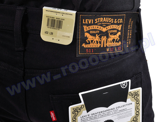 Spodnie Levis 511 Caviar Bull Skateboarding Collection F/W 2017 (95581-0009)