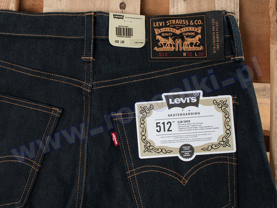 Spodnie Levis 512 Rigid Indigo Skateboarding Collection F/W 2017 (36702-0001)